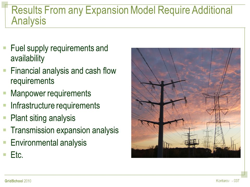 Results From any Expansion Model Require Additional Analysis