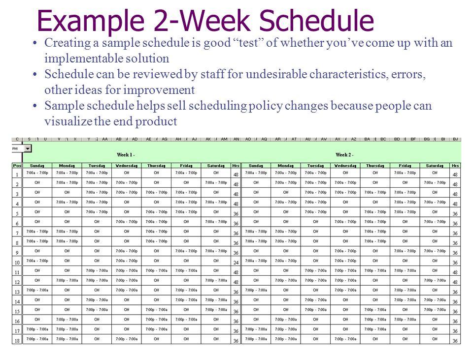 2 week schedule