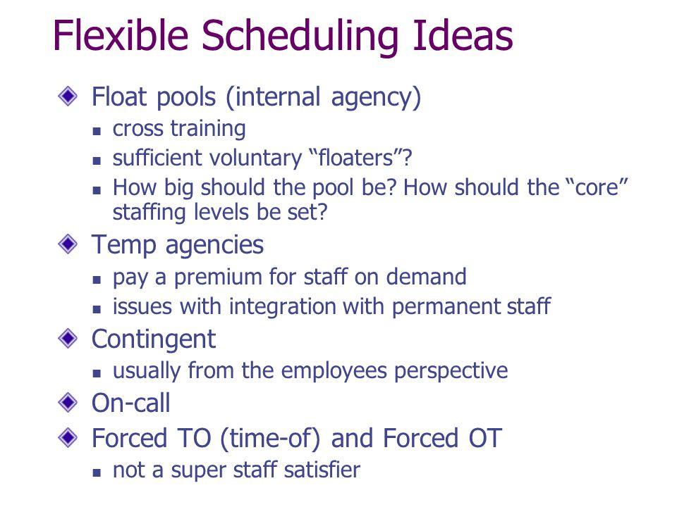 Flexible Scheduling Ideas