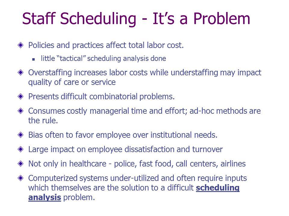 Staff Scheduling - It's a Problem