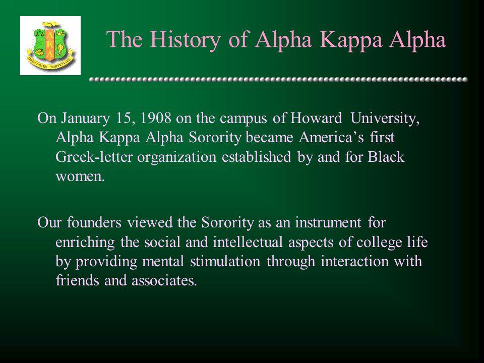 The History of Alpha Kappa Alpha