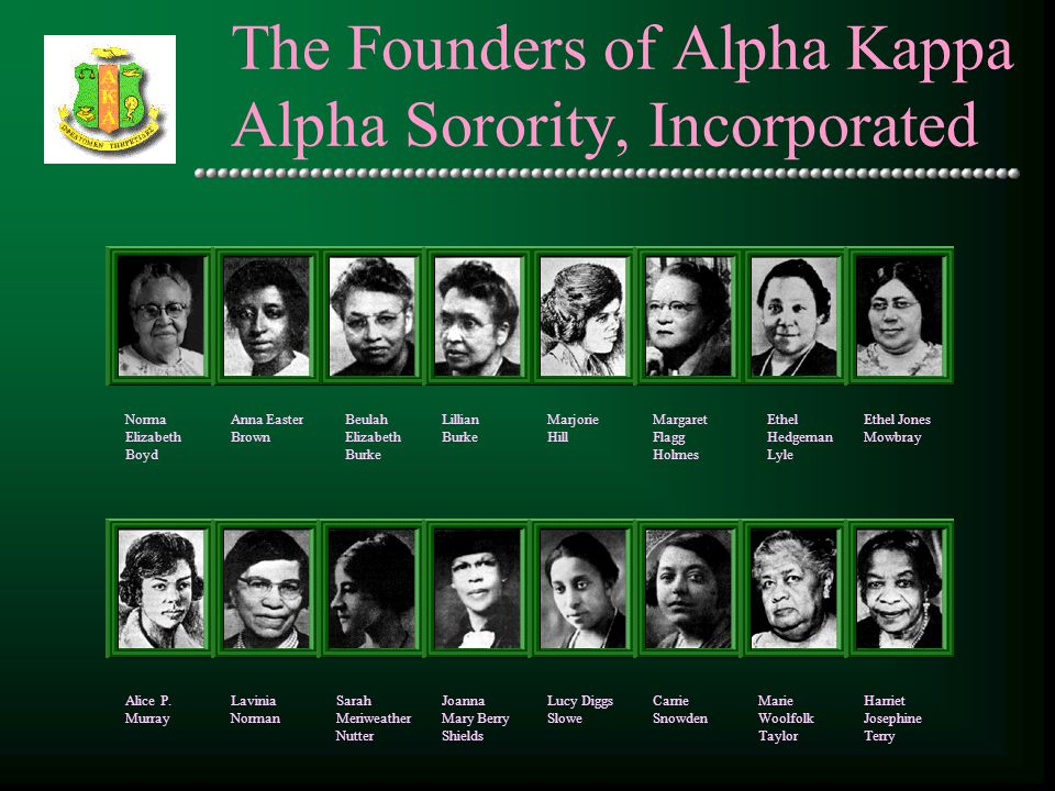 The Founders of Alpha Kappa Alpha Sorority, Incorporated