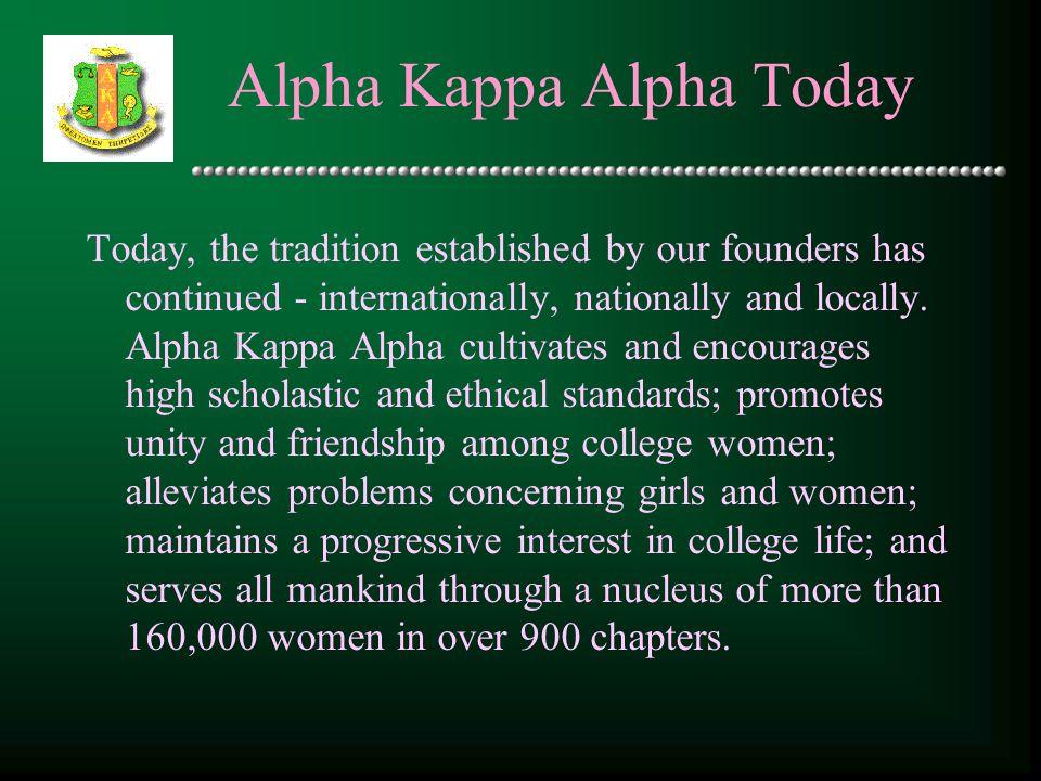 Alpha Kappa Alpha Today