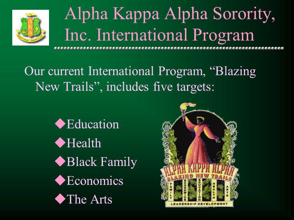 Alpha Kappa Alpha Sorority, Inc. International Program