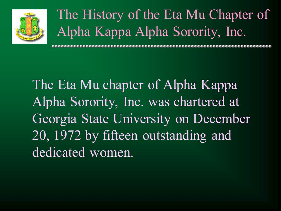 The History of the Eta Mu Chapter of Alpha Kappa Alpha Sorority, Inc.