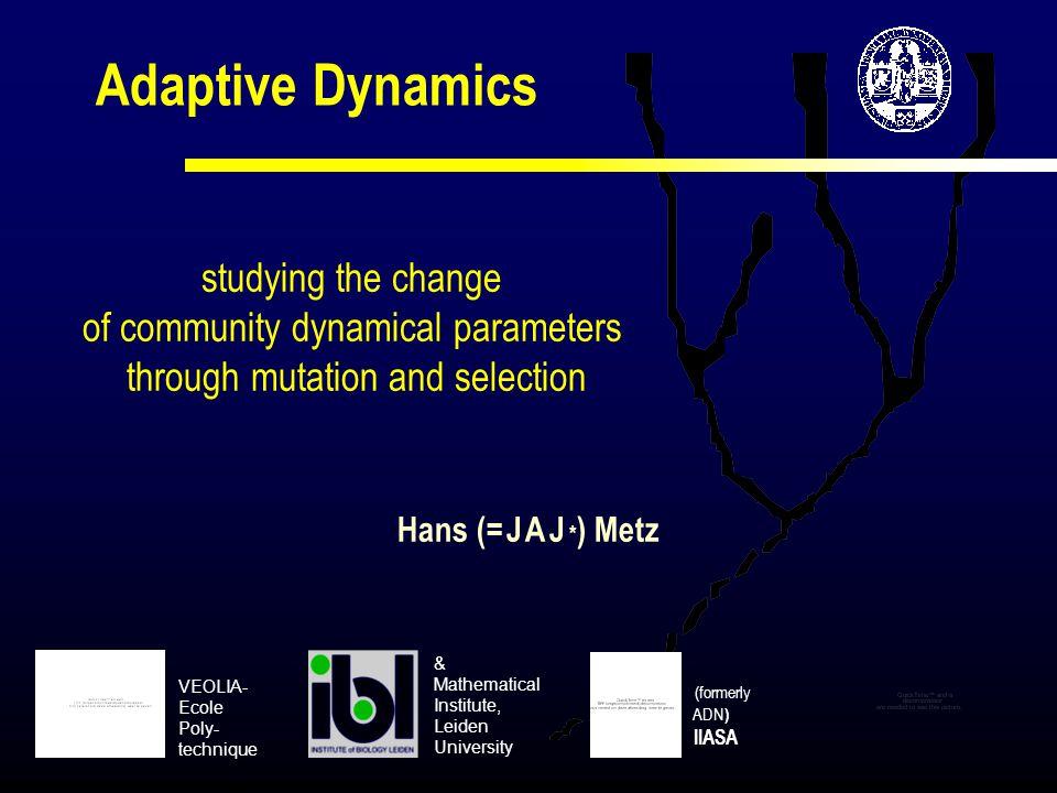 Adaptive Dynamics studying the change