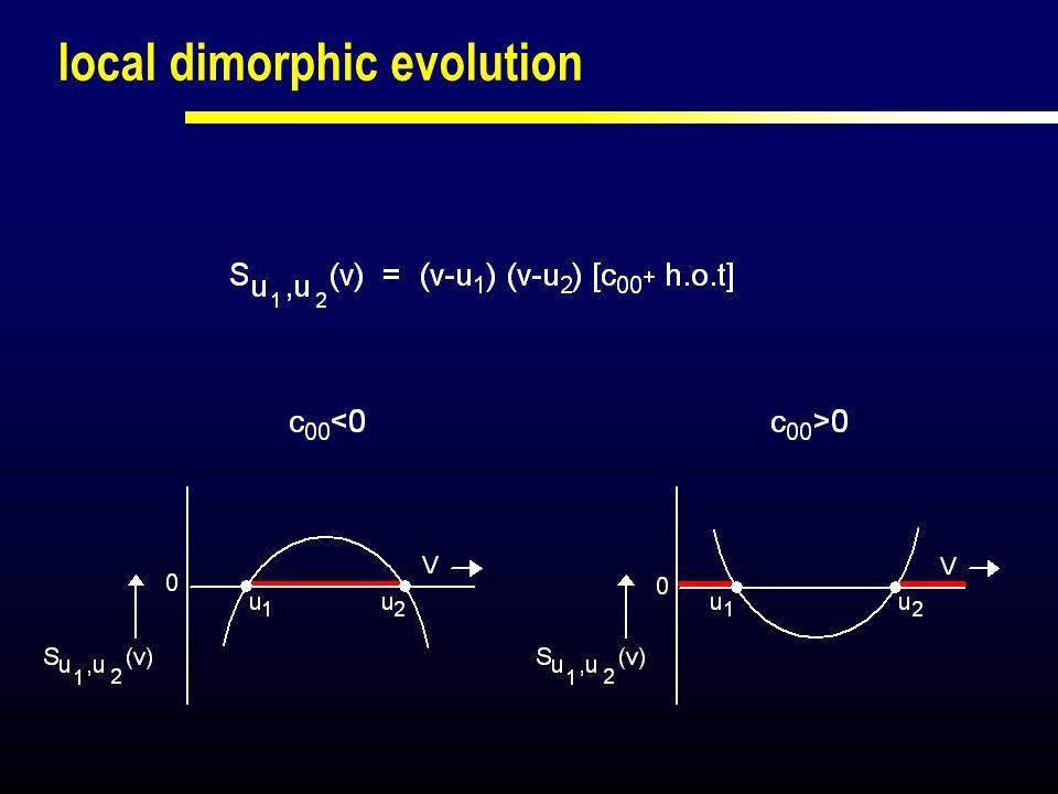 local dimorphic evolution