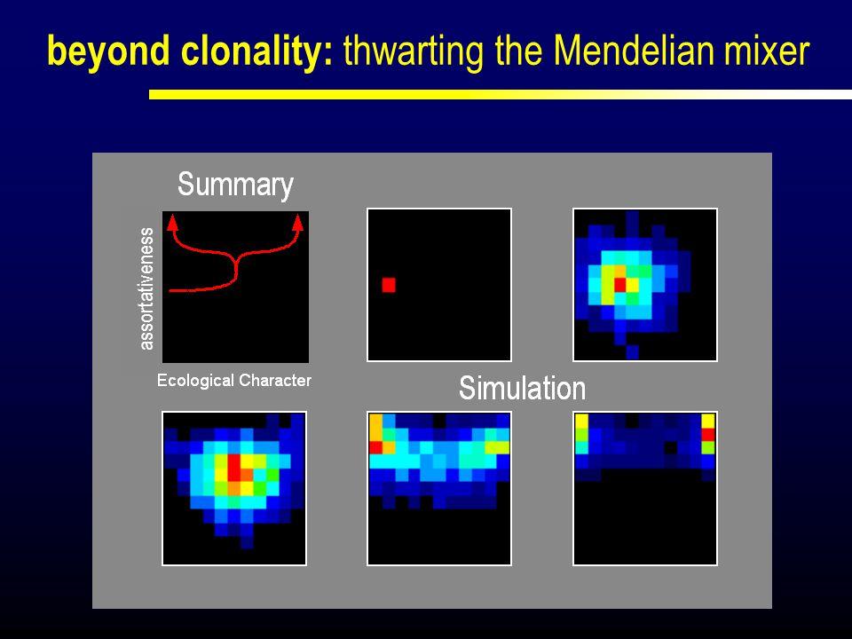 beyond clonality: thwarting the Mendelian mixer
