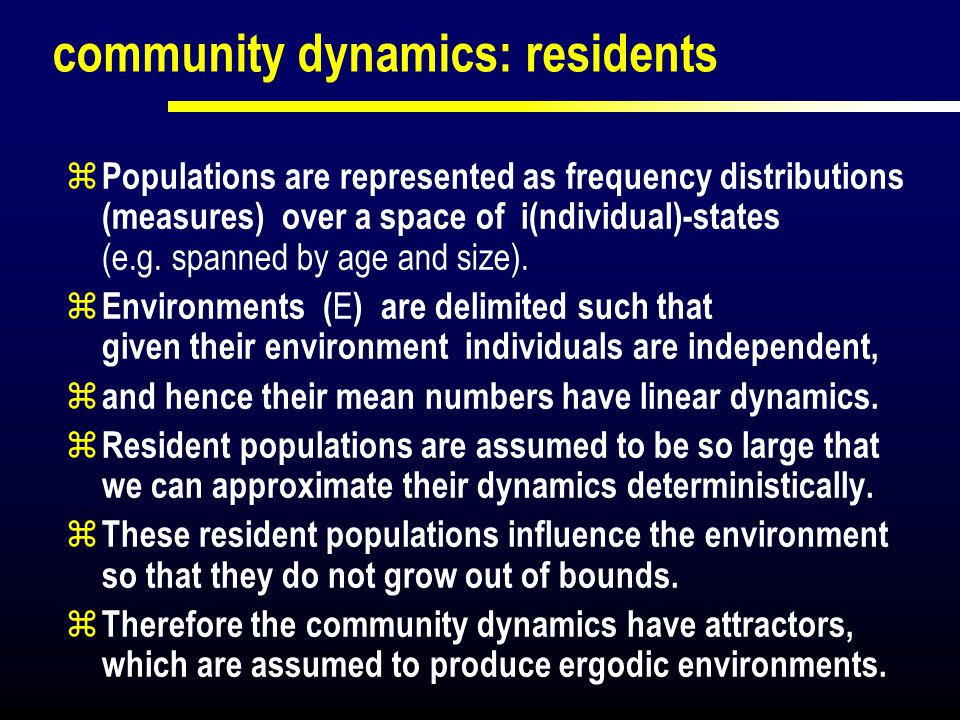 community dynamics: residents