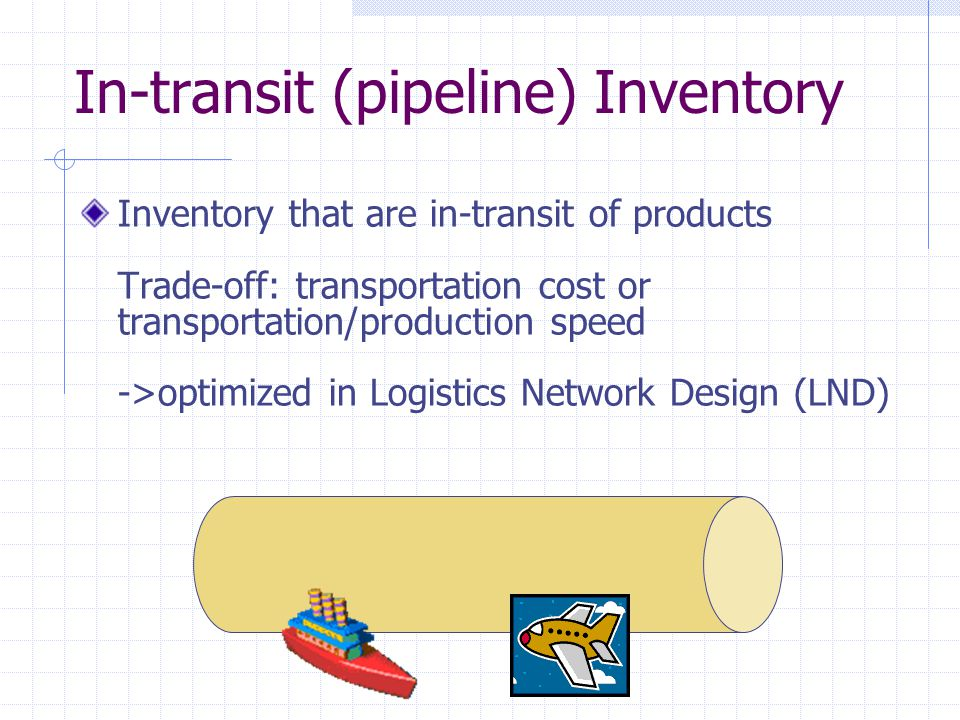 In-transit (pipeline) Inventory