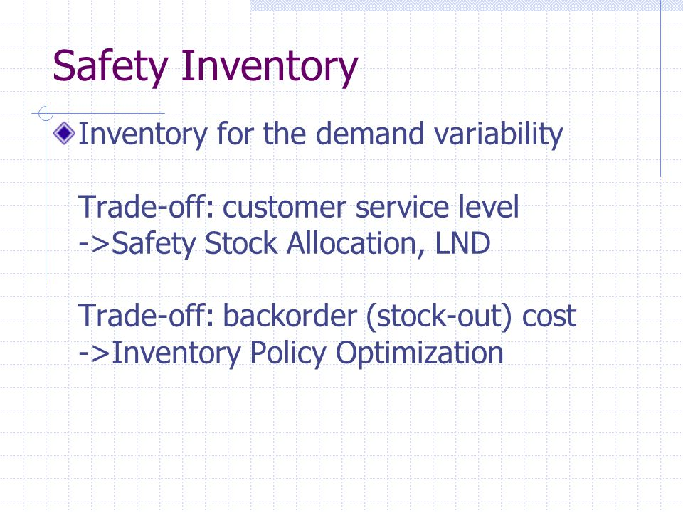 Safety Inventory