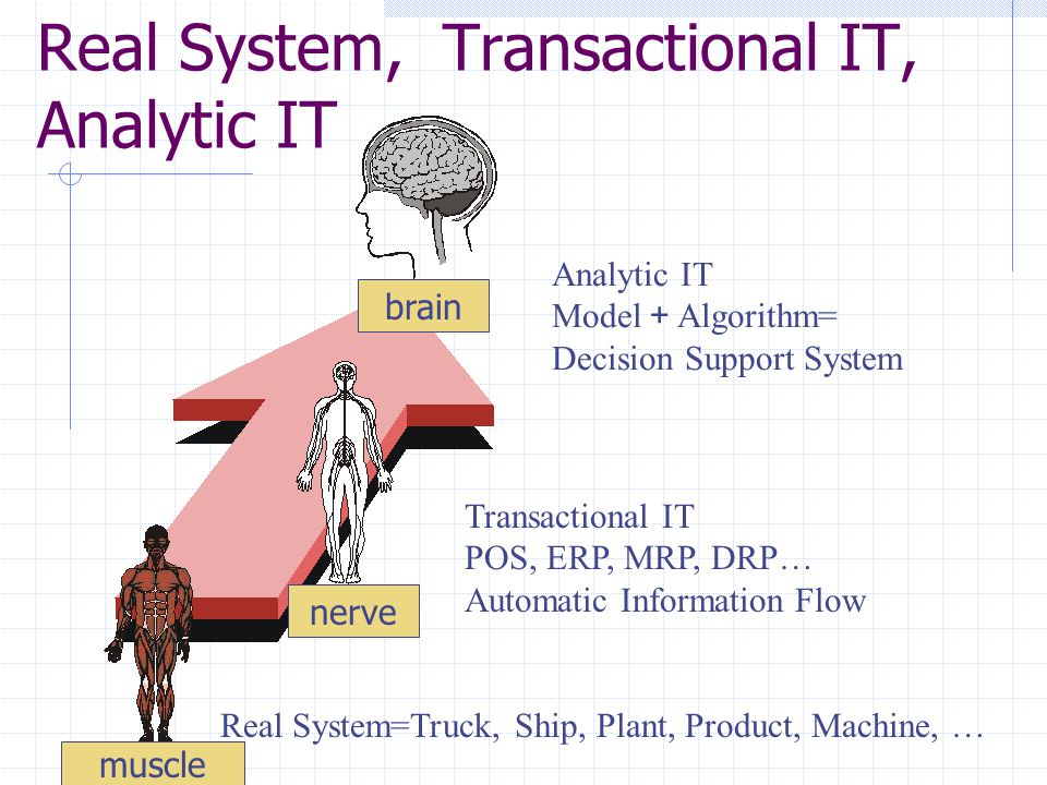 Real System, Transactional IT, Analytic IT