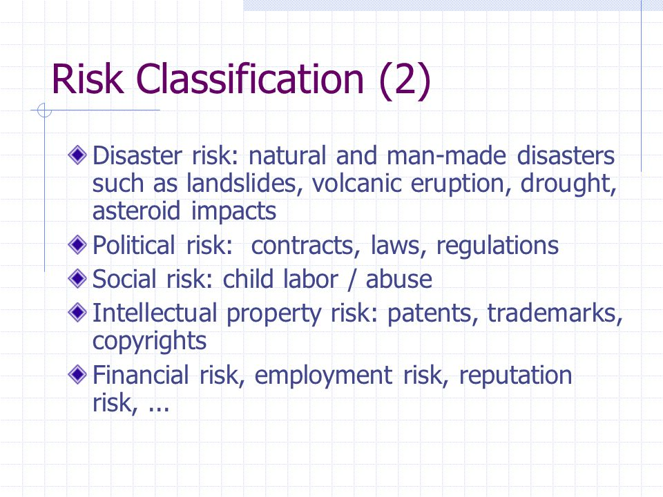 Risk Classification (2)