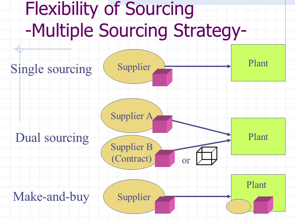 Flexibility of Sourcing -Multiple Sourcing Strategy-
