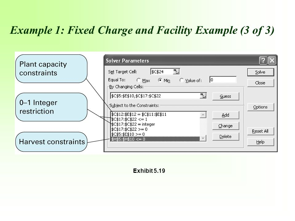 Example 1: Fixed Charge and Facility Example (3 of 3)
