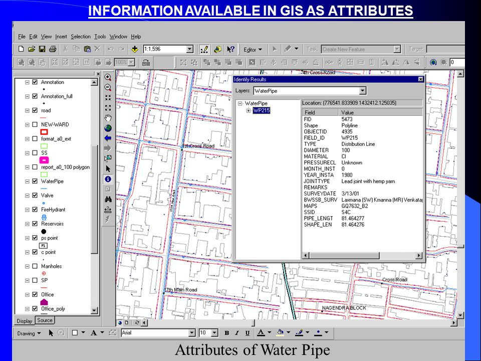 INFORMATION AVAILABLE IN GIS AS ATTRIBUTES