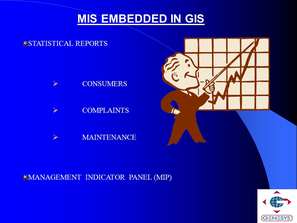 MIS EMBEDDED IN GIS STATISTICAL REPORTS CONSUMERS COMPLAINTS