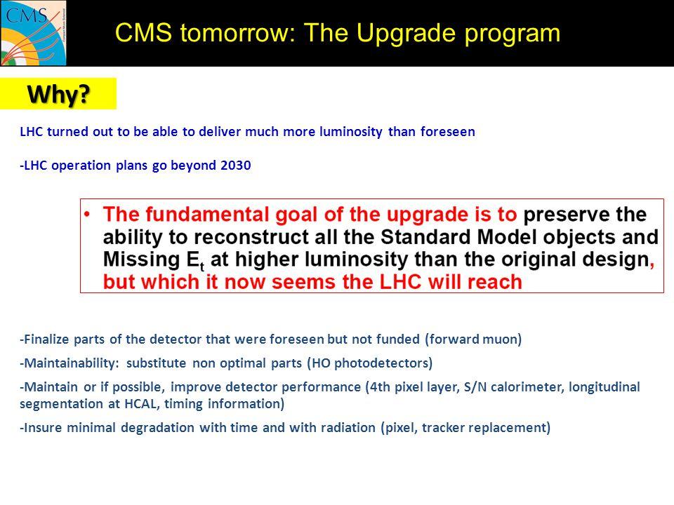 Why CMS tomorrow: The Upgrade program