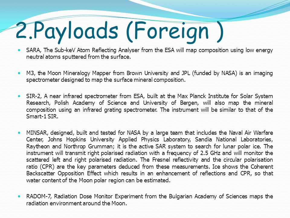 2.Payloads (Foreign )