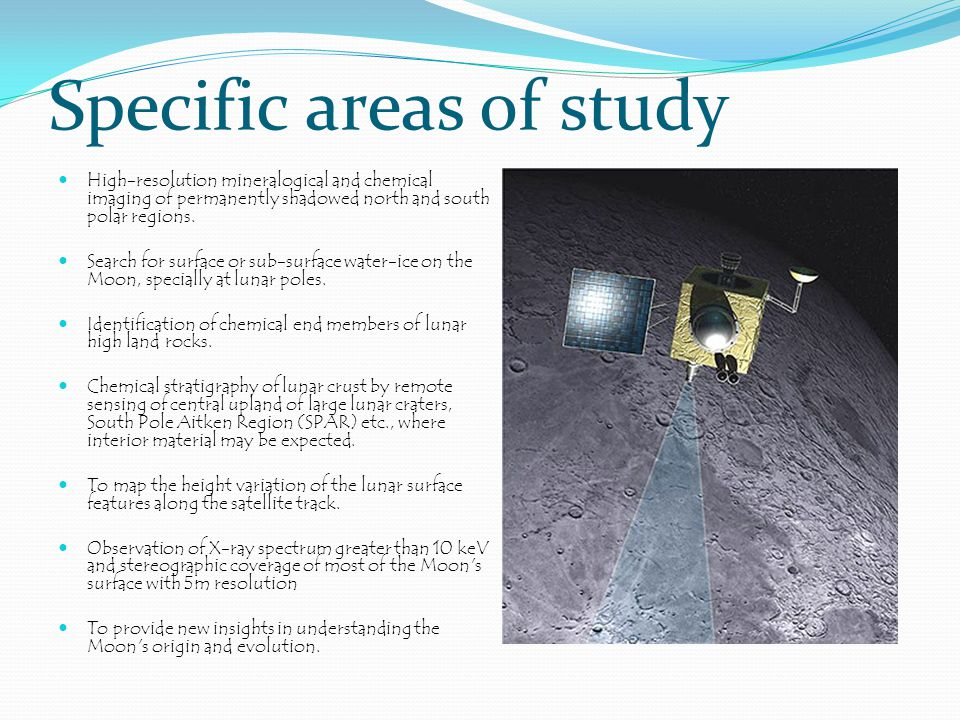 Specific areas of study