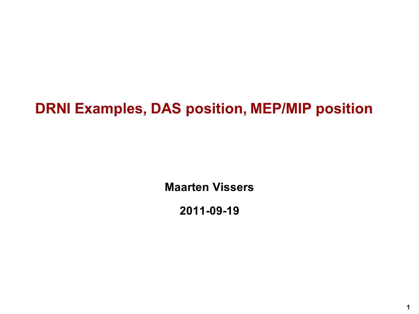 DRNI Examples, DAS position, MEP/MIP position