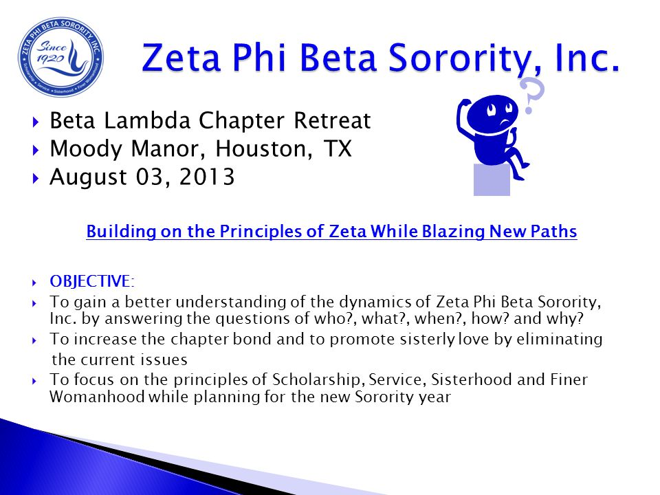 Zeta Phi Beta Sorority, Inc.