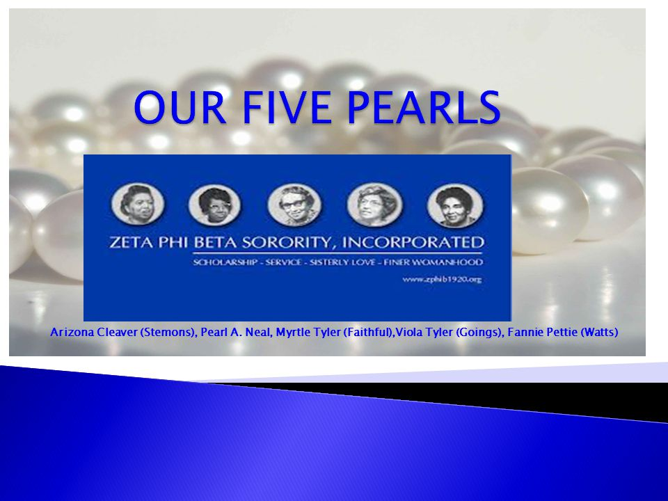 OUR FIVE PEARLS Arizona Cleaver (Stemons), Pearl A.
