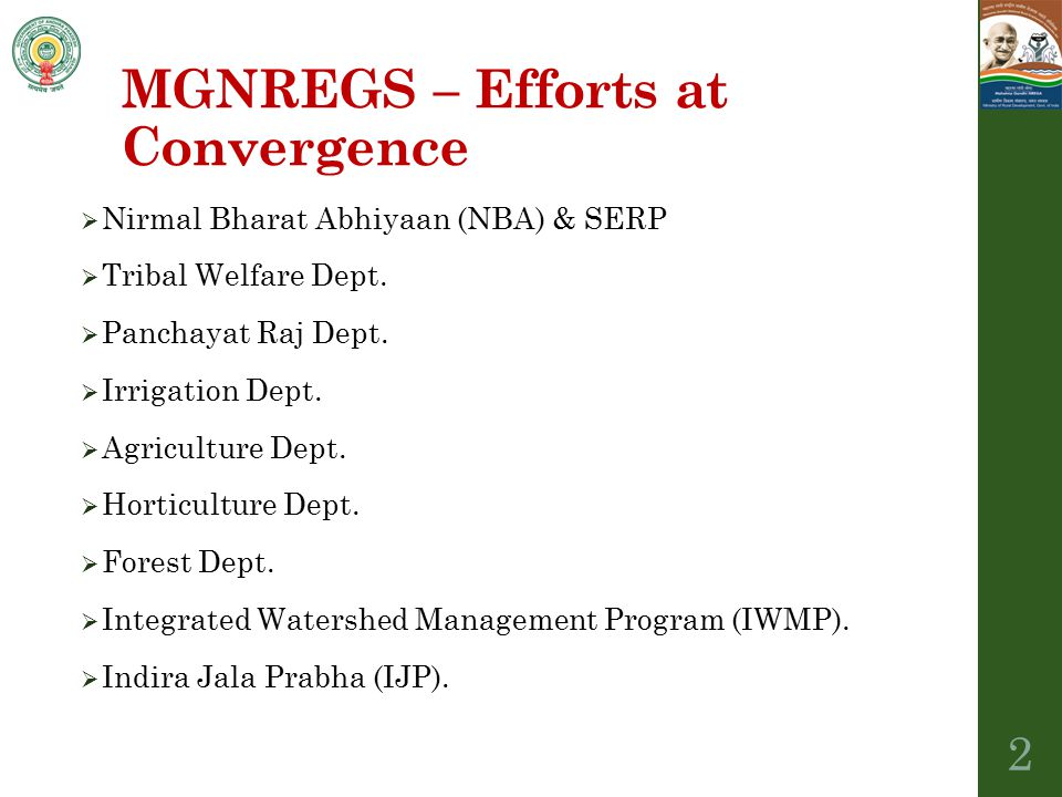 MGNREGS – Efforts at Convergence