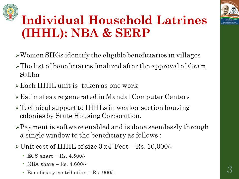 Individual Household Latrines (IHHL): NBA & SERP