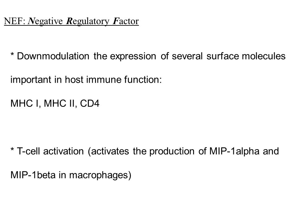 NEF: Negative Regulatory Factor