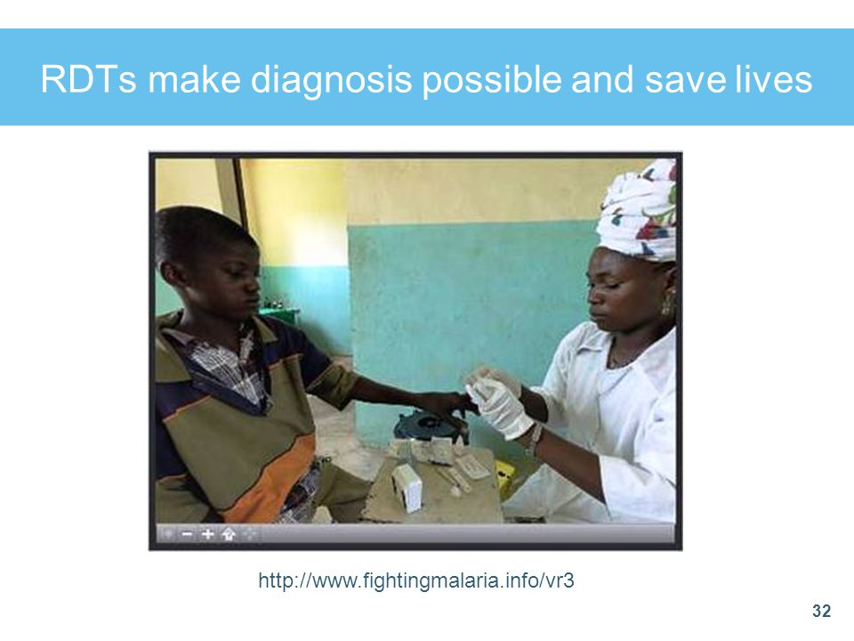 RDTs make diagnosis possible and save lives