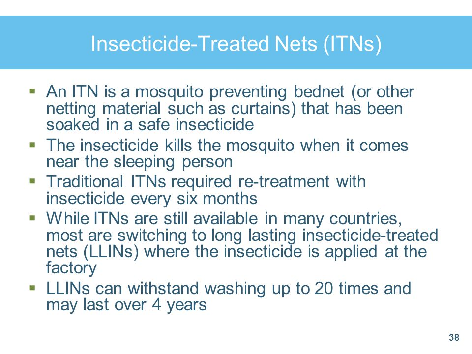 Insecticide-Treated Nets (ITNs)
