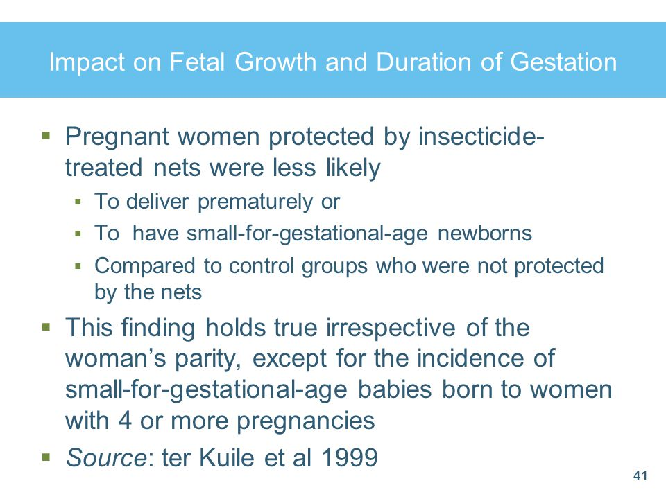 Impact on Fetal Growth and Duration of Gestation