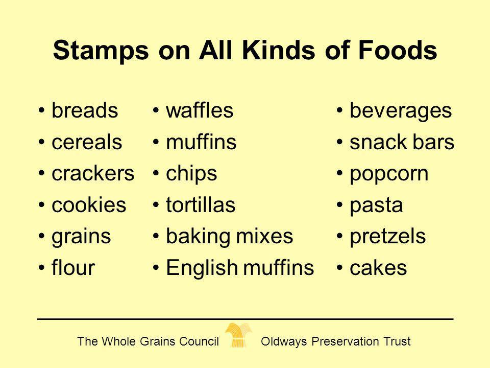 Stamps on All Kinds of Foods