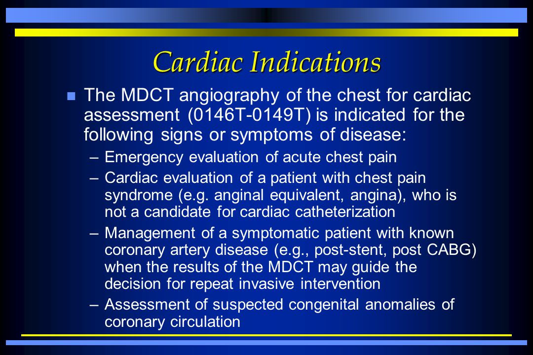 Cardiac Indications