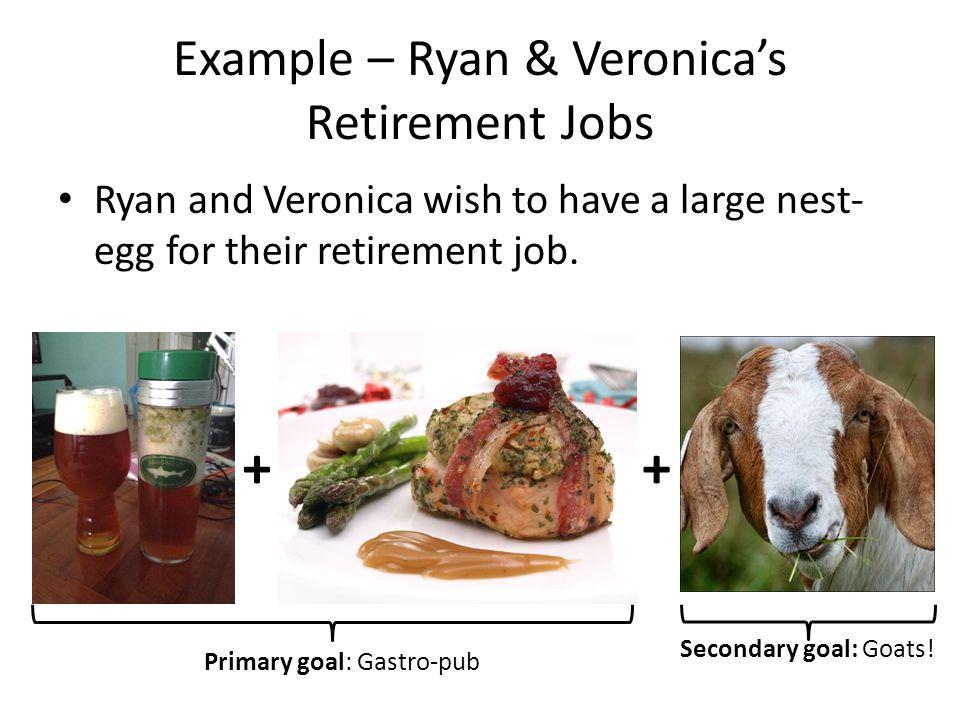 Example – Ryan & Veronica's Retirement Jobs