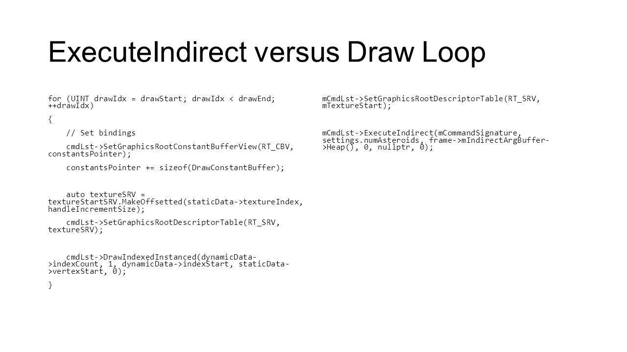 ExecuteIndirect versus Draw Loop