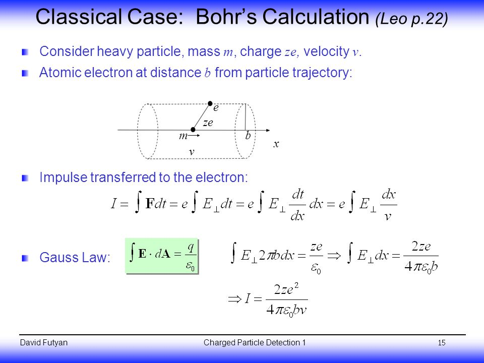 Classical Case: Bohr's Calculation (Leo p.22)