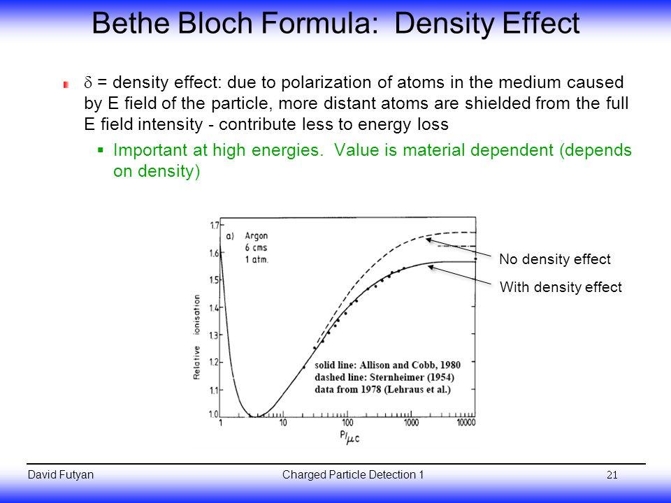 Bethe Bloch Formula: Density Effect