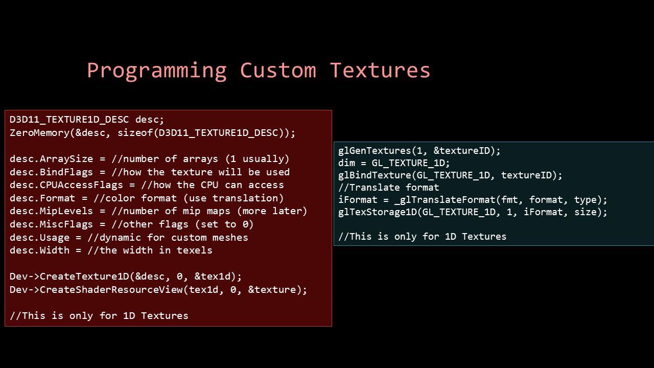 Programming Custom Textures