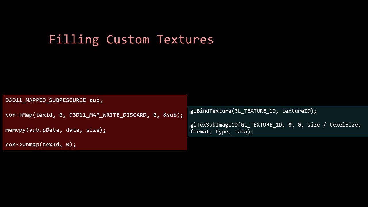 Filling Custom Textures