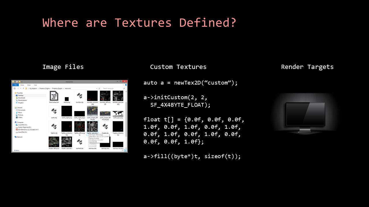 Where are Textures Defined