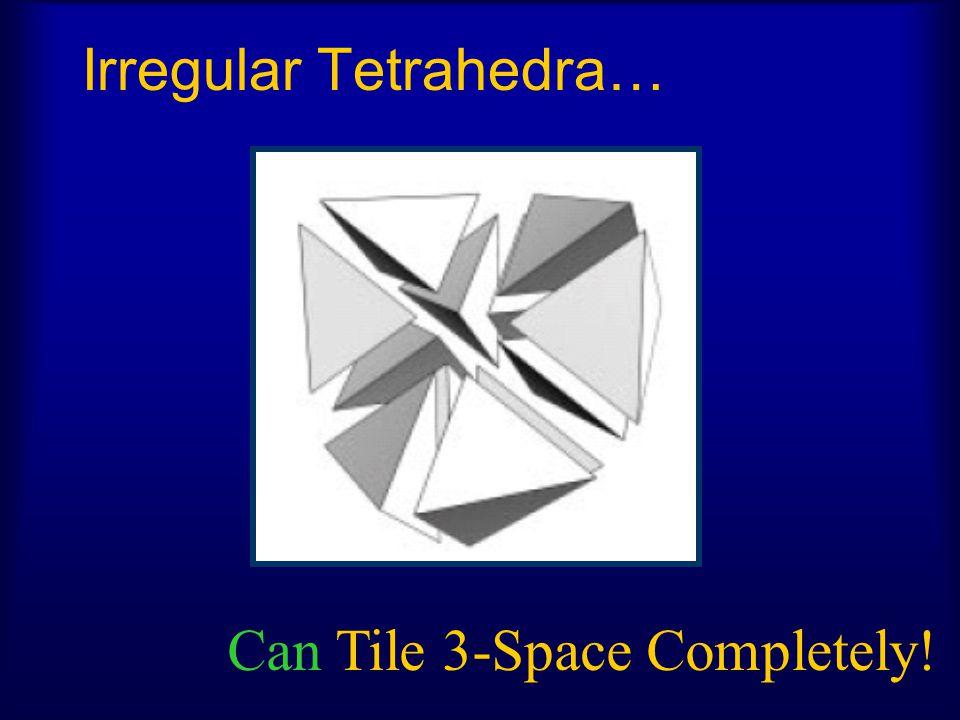 Irregular Tetrahedra…