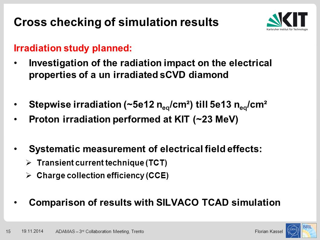 Cross checking of simulation results