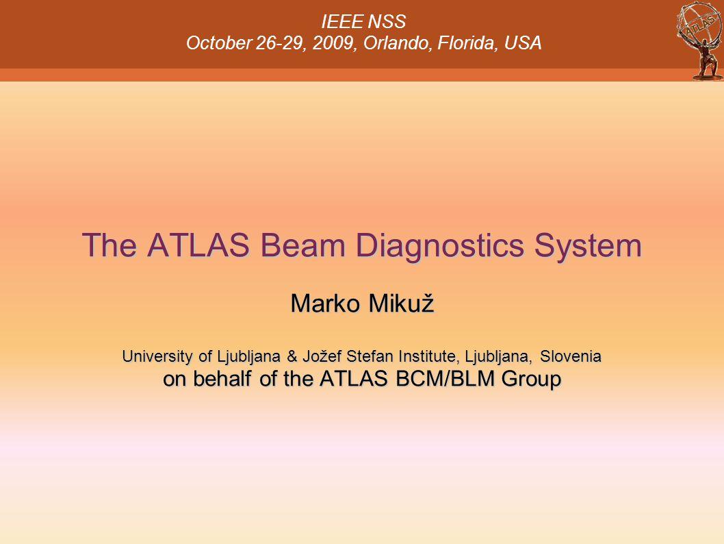 The ATLAS Beam Diagnostics System