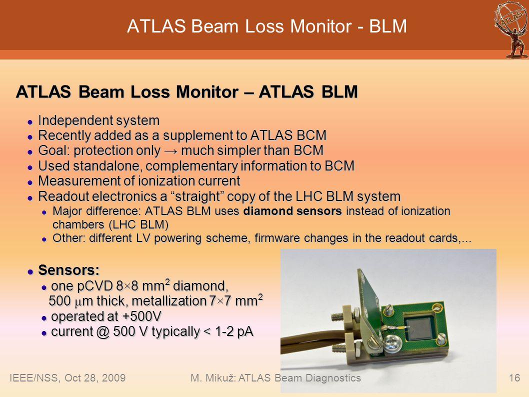 ATLAS Beam Loss Monitor - BLM