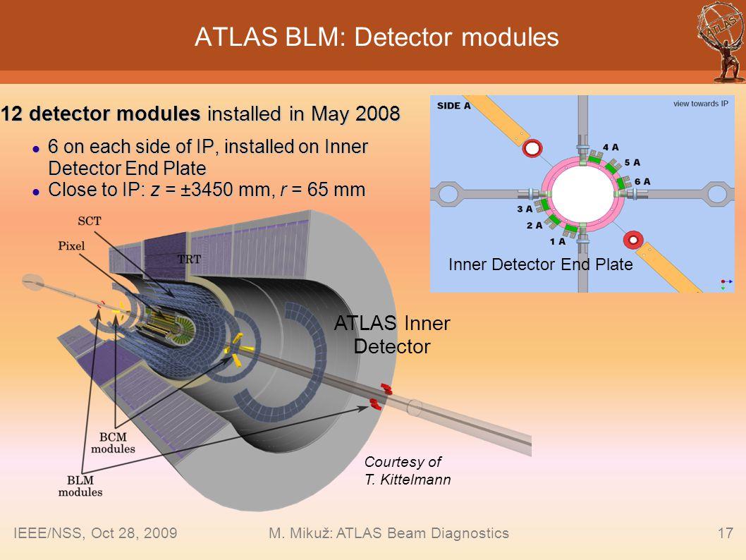 ATLAS BLM: Detector modules