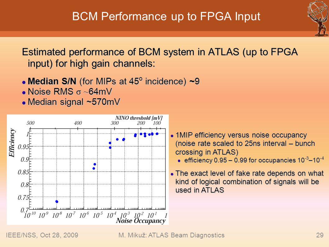 BCM Performance up to FPGA Input
