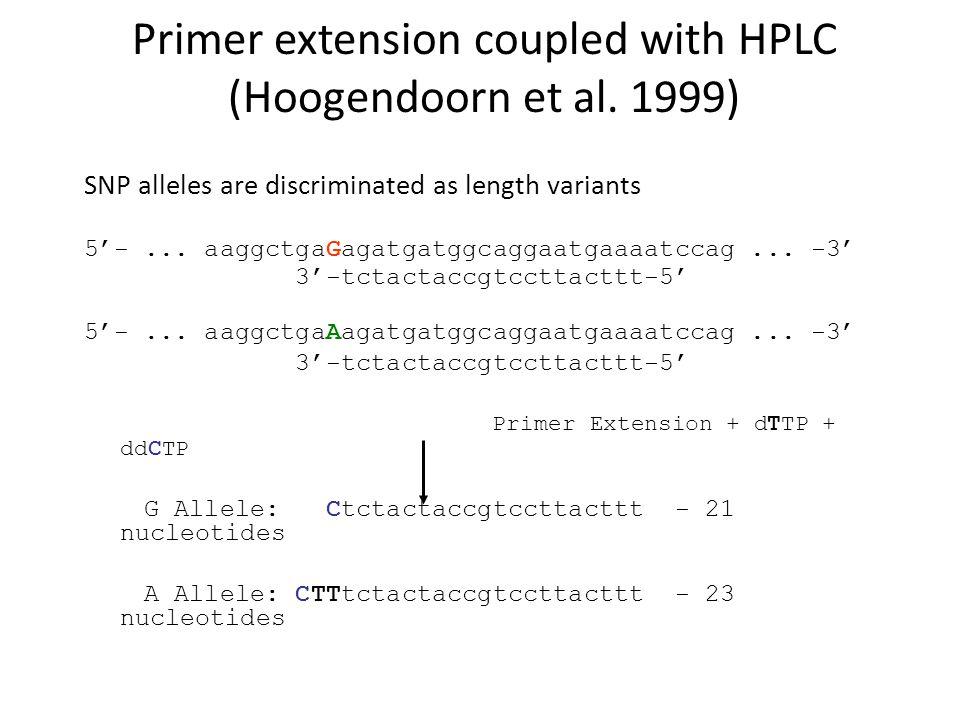 Primer extension coupled with HPLC (Hoogendoorn et al. 1999)
