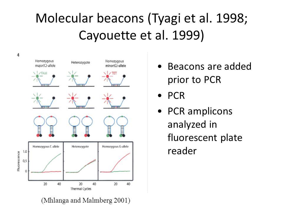 Molecular beacons (Tyagi et al. 1998; Cayouette et al. 1999)